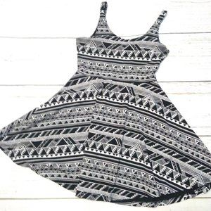 VS Pink Fit & Flare Skater Dress Aztec Print Sz SP